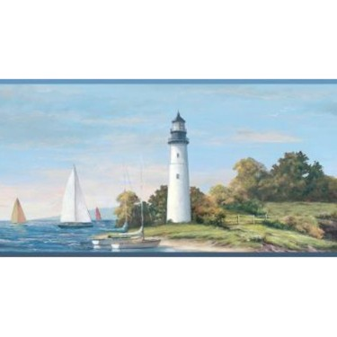 Sailing Lighthouse Border
