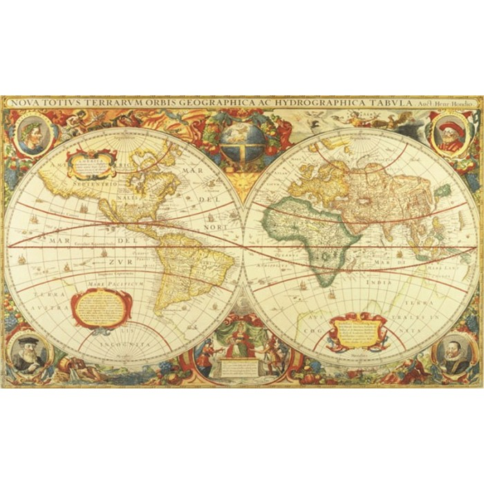 C873 antique world map mural discount wallcovering for Antique map mural
