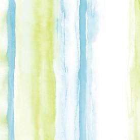 Tropical Watercolor Stripe Wallpaper