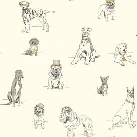 Dog's Life Toile Wallpaper