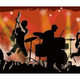 Rock Show Silhouette Border