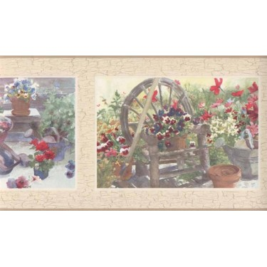 Judy Buswell Floral Frames Border