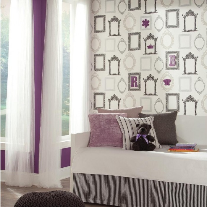 YS9338 - Vintage Picture Frames Wallpaper - Discount Wallcovering