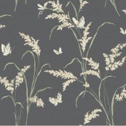 Tall Grass With Butterflies Wallpaper