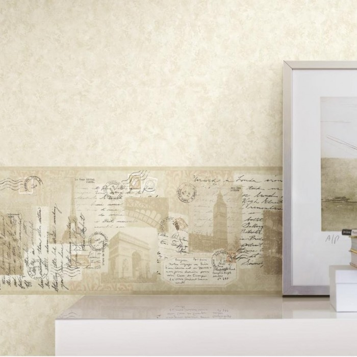 Am8774b Photo Collage Border Discount Wallcovering