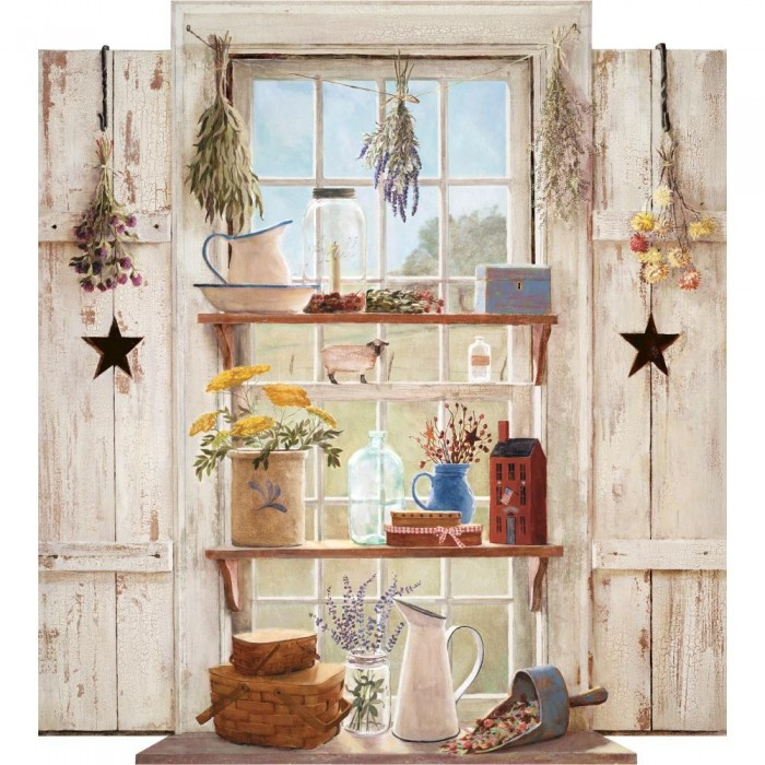Hf8797mmp Country Things Mural Discount Wallcovering