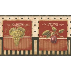 Vintage Fruit Label Border