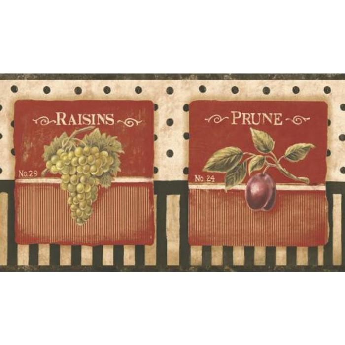 pa5532bd - vintage fruit label border