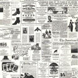 Vintage Newspaper Print Wallpaper