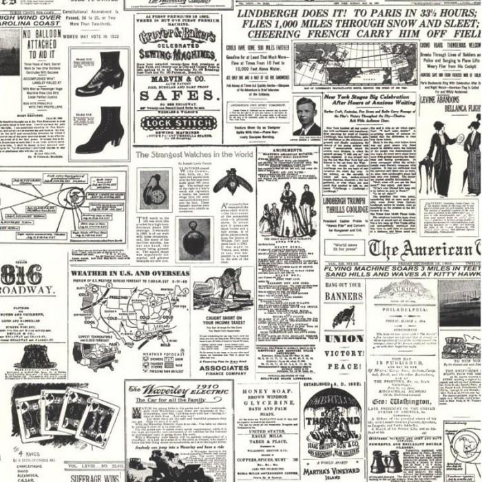 kw7620 vintage newspaper print wallpaper discount. Black Bedroom Furniture Sets. Home Design Ideas