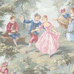 Musicians & Dancing Couples Wallpaper