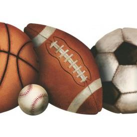 Basketball, Baseball, Soccer, and Football Ball Die-cut Border