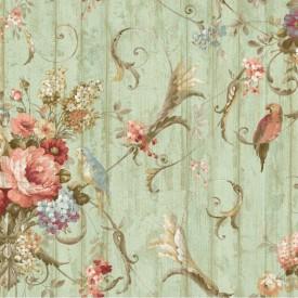 Parrot Floral Bouquets Wallpaper