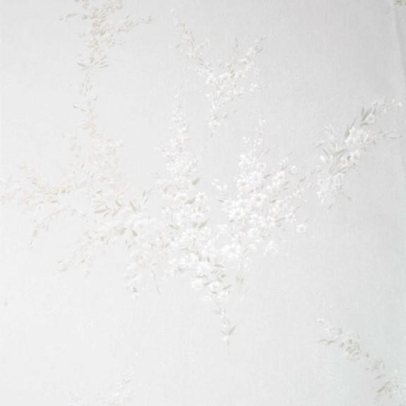 Satiny Floral Sprigs Wallpaper