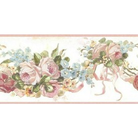 Vintage Rose Swag Border