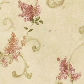 Lilac Acanthus Wallpaper