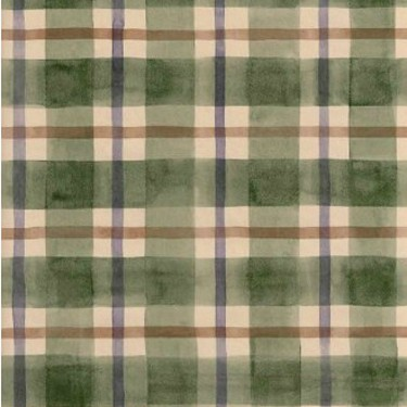 Green, Purple & Brown Plaid Wallpaper