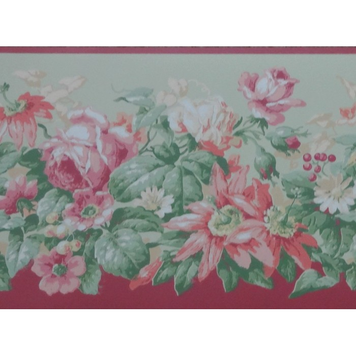 10001001 Flowers Amp Vines Border Discount Wallcovering