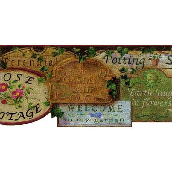 Garden Signs Sculptured Border