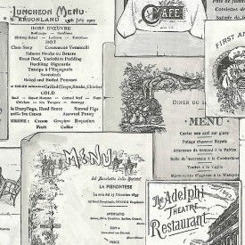 Vintage Menus Wallpaper