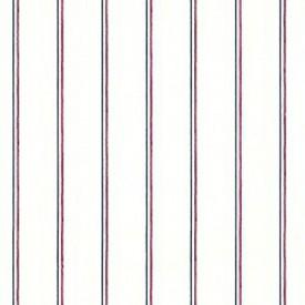 Red & Blue Pinstripe Wallpaper