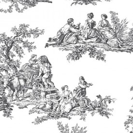 Pastoral Toile Wallpaper