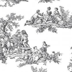 Pastoral Toile Wallpaper
