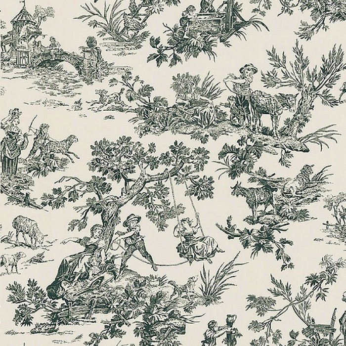21 Best Toile Wall Paper Images On Pinterest: Limoges Toile Wallpaper