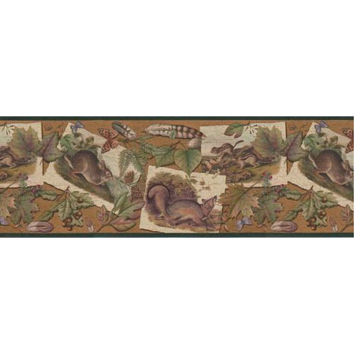 230b33637 Woodland Animals Border Discount Wallcovering