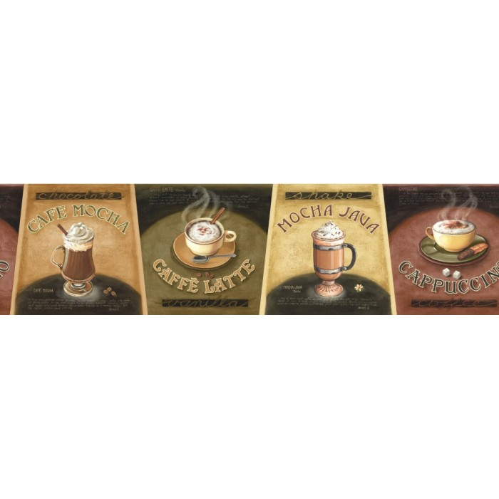 La036101b Coffee Choices Border Discount Wallcovering