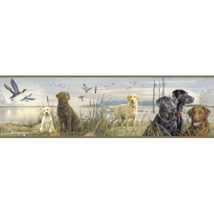 Htm48451b Duck Hunt Border Discount Wallcovering