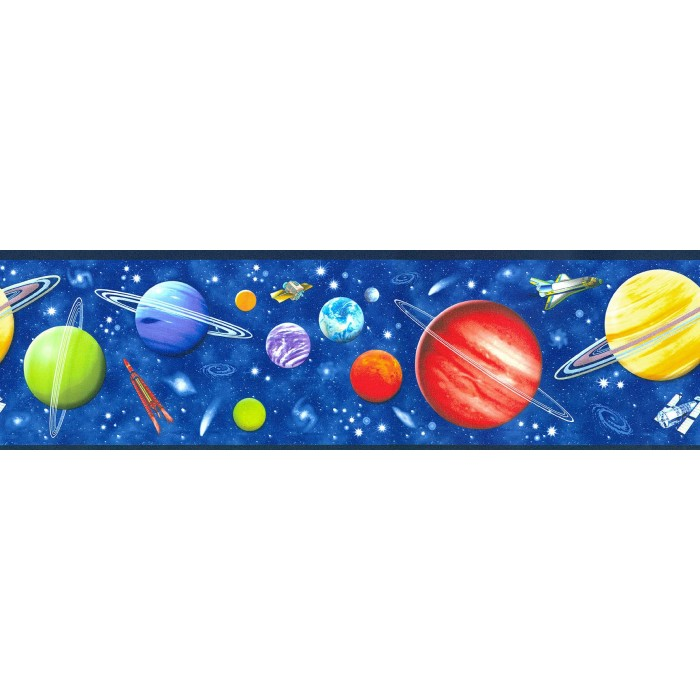 5806335 Space Galaxy Border Discount Wallcovering
