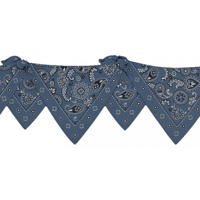 5505391 Blue Bandana Die Cut Border Discount Wallcovering
