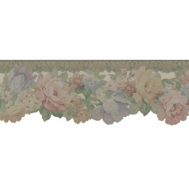 Marguerite Rose Die-cut Border