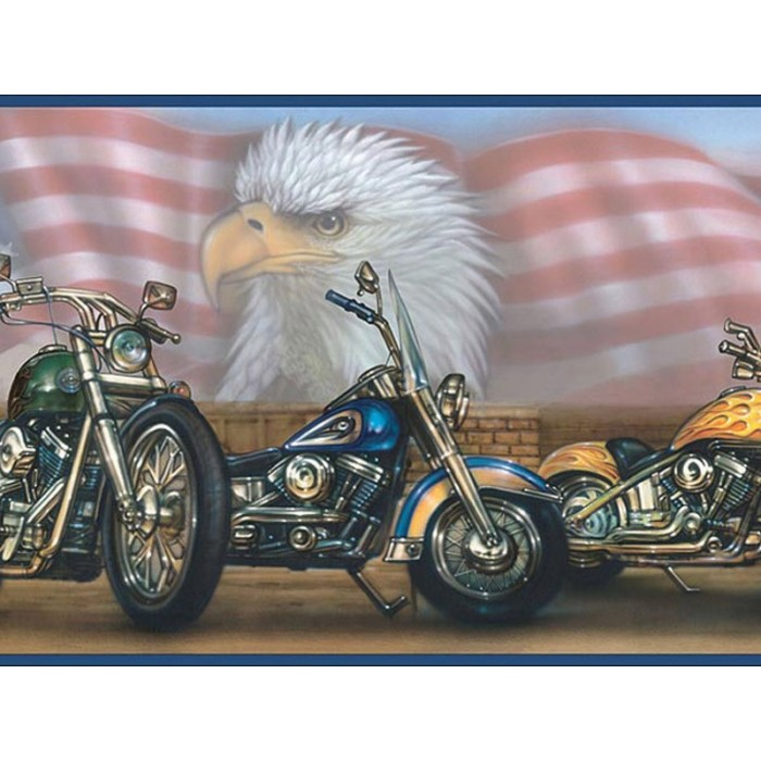 Bruce Blue Americana Motorcycles Portrait