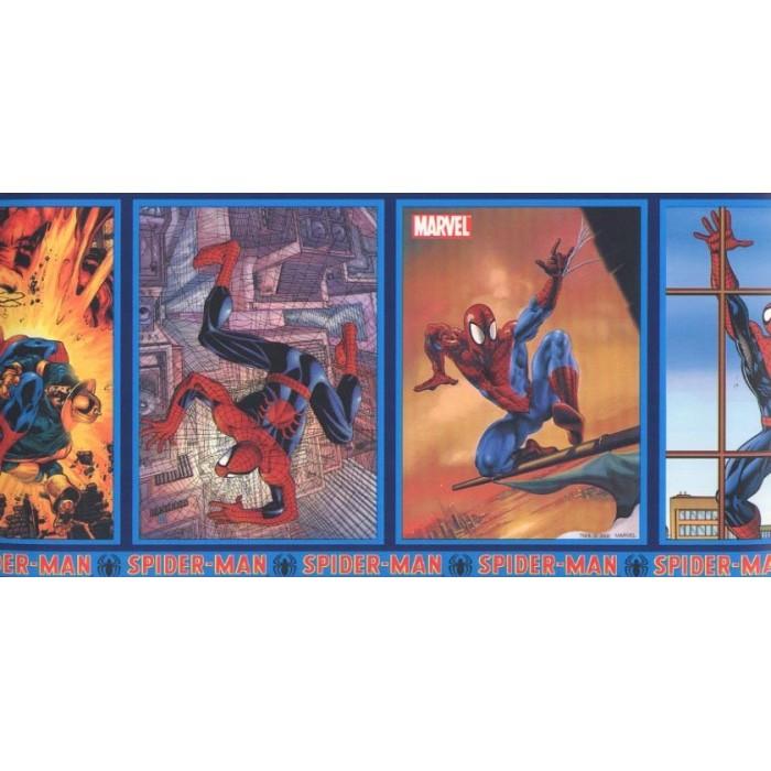 Jj6899b Spider Man Frames Border Discount Wallcovering