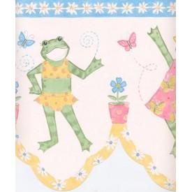 Dancing Frogs Sculptured Border