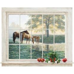 Paned Window Mural