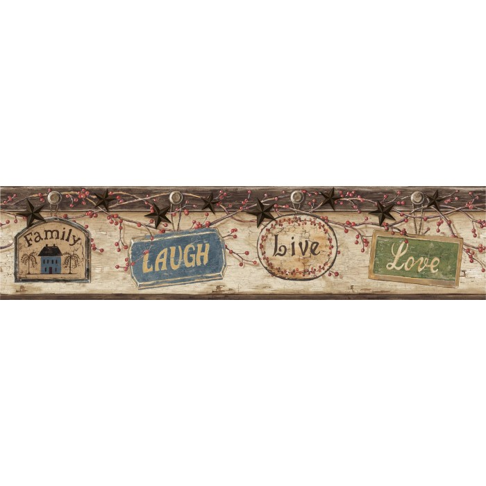 Ctr63151b Live Love Laugh Border Discount Wallcovering