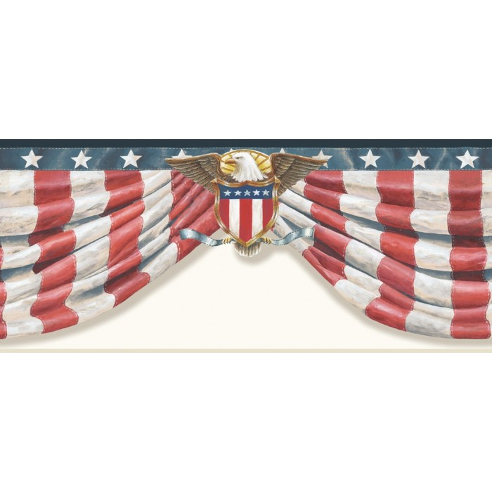 Ctr63171b Stars Amp Stripes Border Discount Wallcovering