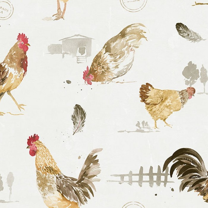 Fk34433 Chickens Wallpaper Discount Wallcovering