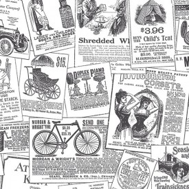 Vintage Newspaper Ads Wallpaper