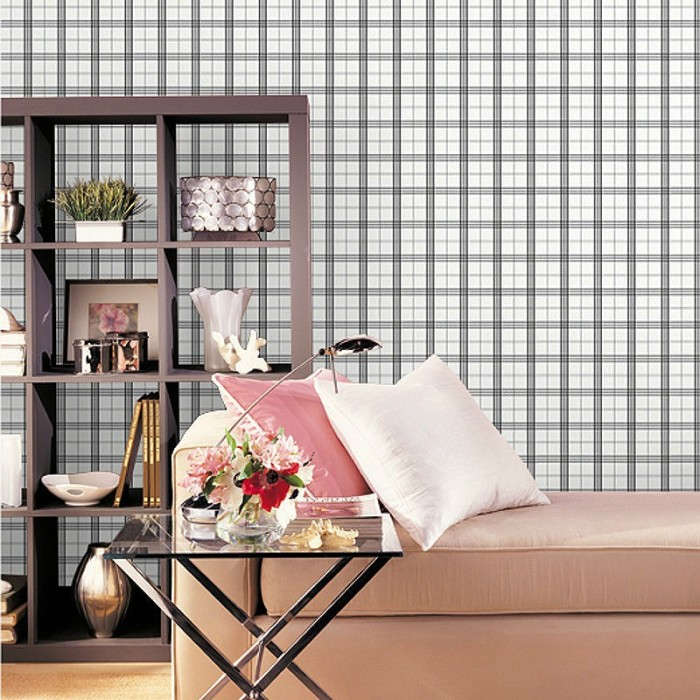 Kv27425 Plaid Wallpaper Discount Wallcovering