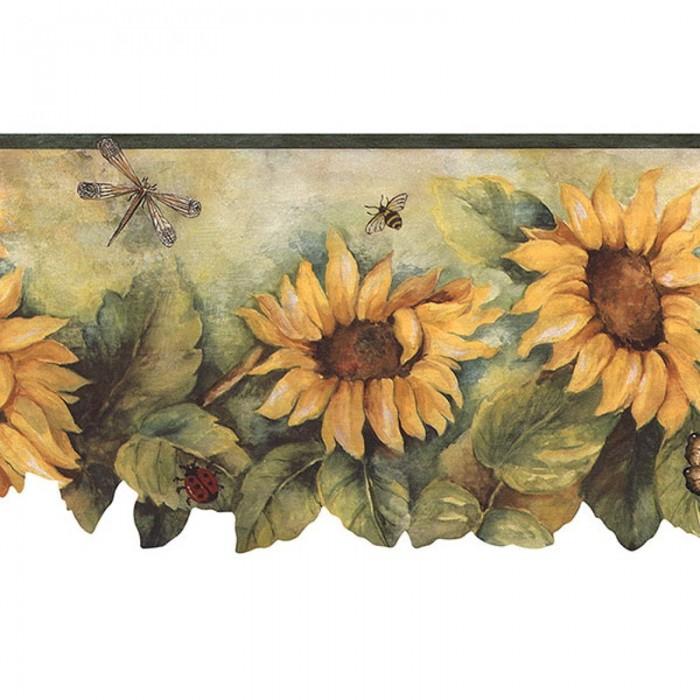 Bg71362dc Sunflower Die Cut Border Discount Wallcovering