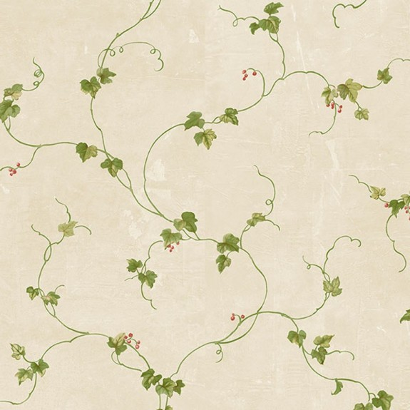 Ivy With Berries Wallpaper