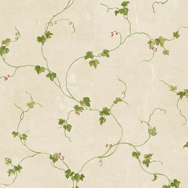 Fk34435 Ivy With Berries Wallpaper Discount Wallcovering