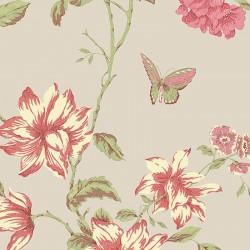 English Floral Trail Wallpaper