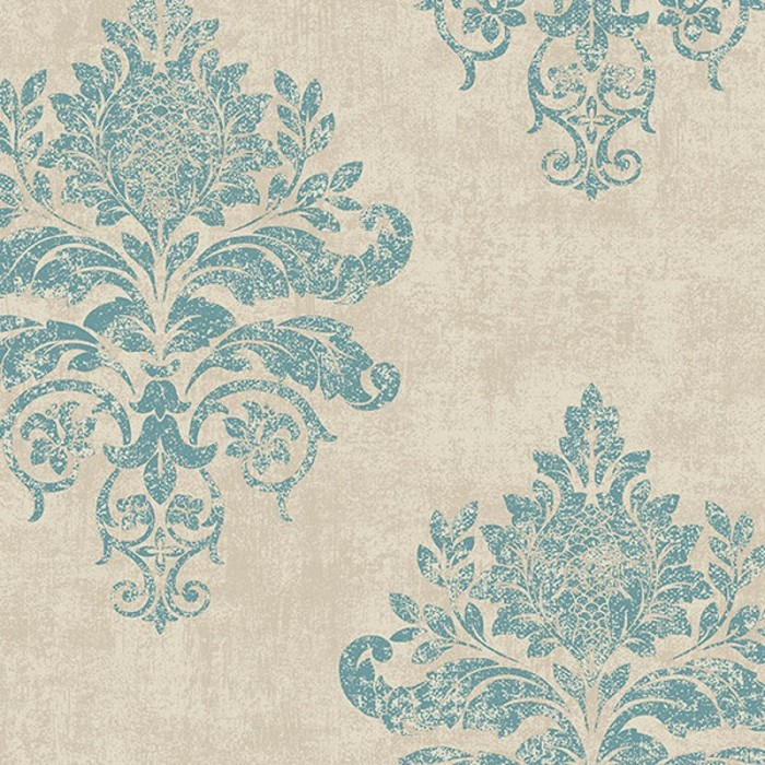 G34155 Medallion Damask Wallpaper Discount Wallcovering