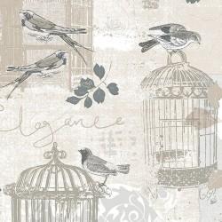 Decorative Birdcage Wallpaper