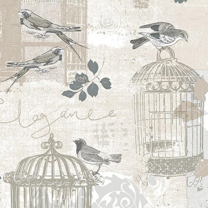 Ke29946 Decorative Birdcage Wallpaper Discount